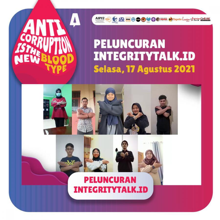Peluncuran IntegrityTalk.id Forum Komunitas Pemuda Indonesia Antikorupsi – SPAK Indonesia AIPJ 2