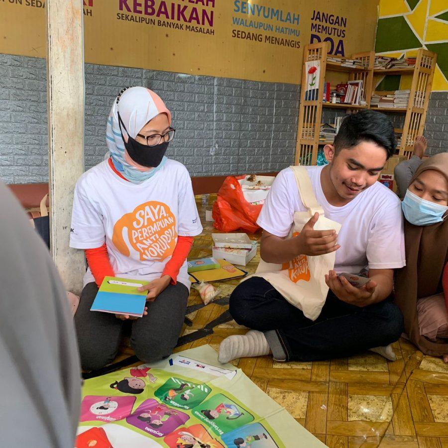 Devina SPAK Jakarta Sosialisasi Game Semai Majo Tangerang Read Aloud